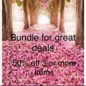 Bundle 3 or more save 5o% ***